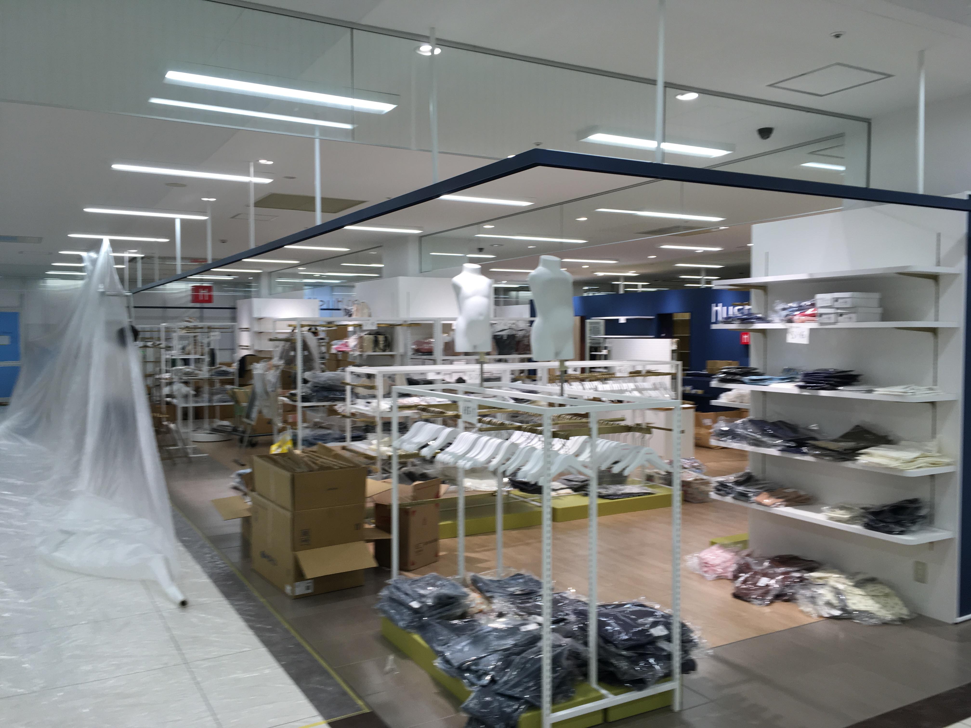 ハッシュアッシュ イオン小樽店 新装工事